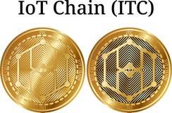 Комплект физического золотого ITC цепи IoT монетки Стоковое фото RF
