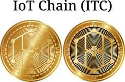 Комплект физического золотого ITC цепи IoT монетки Стоковые Фото