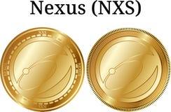 Комплект физической золотой цепи NXS монетки Стоковая Фотография