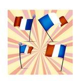 Комплект флагов Франции, иллюстрации вектора Стоковые Изображения RF