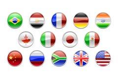 комплект флагов g14 кнопок круглый Стоковое Фото