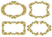 Комплект флористических рамок Стоковые Фотографии RF