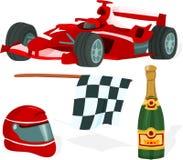комплект Формула-1 Стоковое Изображение
