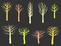 Комплект формы дерева иллюстрация вектора