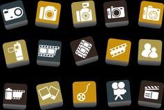 комплект фото иконы иллюстрация вектора