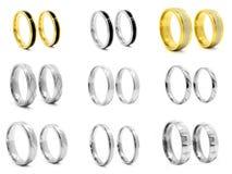 Комплект фото украшений кольца нержавеющая сталь револьвера 375 больших винных бутылок Стоковые Изображения RF