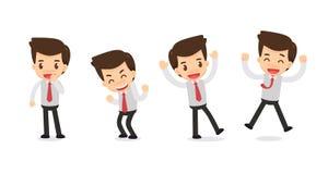 Комплект характера бизнесмена в действиях Стоковое Изображение RF