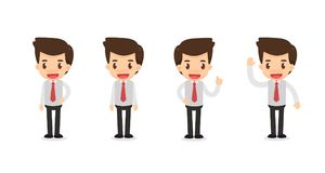 Комплект характера бизнесмена в действиях Стоковая Фотография RF