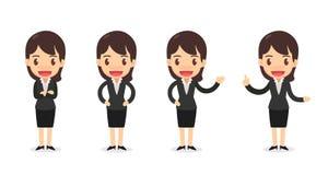 Комплект характера бизнес-леди в действиях Стоковые Фото