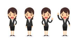 Комплект характера бизнес-леди в действиях Стоковые Изображения
