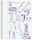 комплект химического оборудования Стоковые Фотографии RF