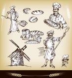 комплект хлебопекарни Стоковое Изображение RF