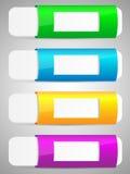 Комплект цветастого шаблона знамени вариантов. Стоковые Изображения RF