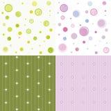 комплект цветастой картины безшовный Стоковое Изображение RF