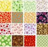 Комплект цветастых безшовных предпосылок Стоковое Изображение RF