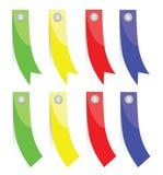 Комплект цветастых бумажных знамен Стоковые Изображения