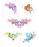 Комплект цветастых зек Стоковое Фото