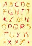 Комплект цветастых писем Стоковое Изображение