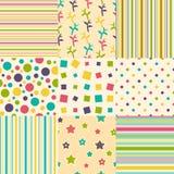 Комплект цветастых предпосылок Стоковые Фотографии RF