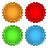 Комплект цветастых стикеров образца Стоковое Изображение RF