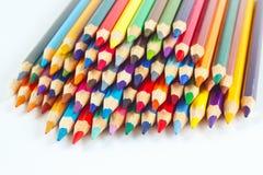 Комплект цвета рисовал для искусства на белой предпосылке Стоковая Фотография RF
