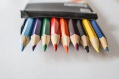 Комплект цвета рисовал на белой предпосылке Стоковые Изображения RF