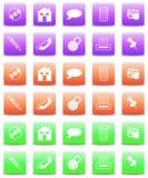 комплект цвета 3 кнопки иллюстрация штока
