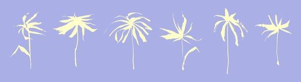 Комплект цветка нарисованного рукой стилизованного внезапный тип эскиза света компьтер-книжки Иллюстрация вектора годная к употре Стоковая Фотография