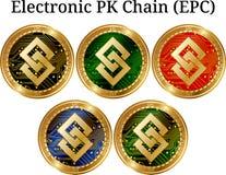 Комплект цепи EPC PK физической золотой монетки электронной Стоковая Фотография RF