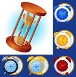 комплект часов иллюстрация вектора
