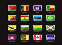 комплект части иконы 2 флагов Стоковое Фото