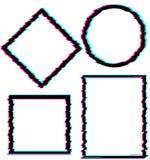 Комплект черных абстрактных элементов играет главные роли, объезжает, придает квадратную форму, косоугольник в стиле небольшого з Стоковая Фотография RF