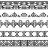 Комплект черных границ Стоковое Изображение