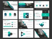 Комплект шаблона элементов представления дела infographic, дизайн брошюры годового отчета корпоративный горизонтальный бесплатная иллюстрация