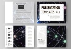 Комплект шаблонов дела для скольжений представления Легкие editable абстрактные планы вектора в плоском дизайне геометрия священн иллюстрация штока