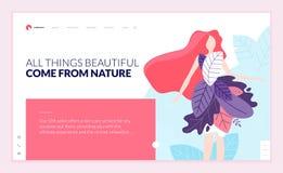 Комплект шаблонов для красоты, курорта дизайна интернет-страницы, здоровья, натуральных продучтов, косметик, заботы тела, здорово бесплатная иллюстрация