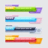Комплект шаблонов названия последних новостей иллюстрация штока