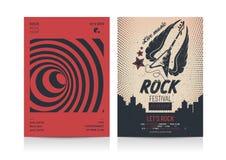 Комплект шаблонов плана рогульки рок-музыки Стоковые Изображения RF