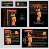 Комплект шаблонов фирменного стиля в этническом стиле стоковое изображение rf