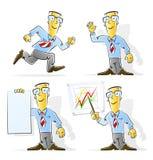 комплект шаржа бизнесмена Стоковое Изображение RF