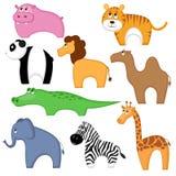 комплект шаржа животных Стоковое фото RF