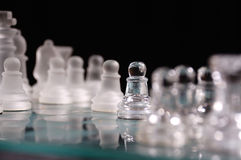 комплект шахмат ясный опаковый Стоковые Фотографии RF