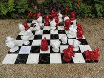 Комплект шахмат (outdoors) Стоковая Фотография