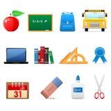 комплект школы иконы Стоковые Фото