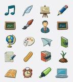 комплект школы иконы Стоковая Фотография RF