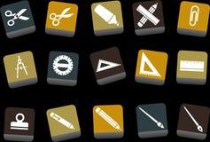 комплект школы иконы иллюстрация вектора
