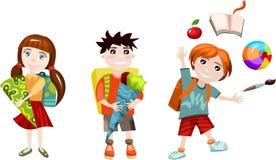 комплект школы бесплатная иллюстрация