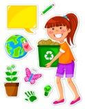 комплект экологичности Стоковые Изображения RF