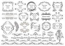 Комплект элементов векторной графики для дизайна Стоковые Изображения RF