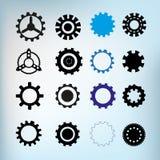 Комплект элементов дизайна шестерней различных Стоковые Изображения RF